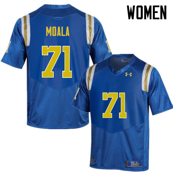 Women #71 Poasi Moala UCLA Bruins Under Armour College Football Jerseys Sale-Blue