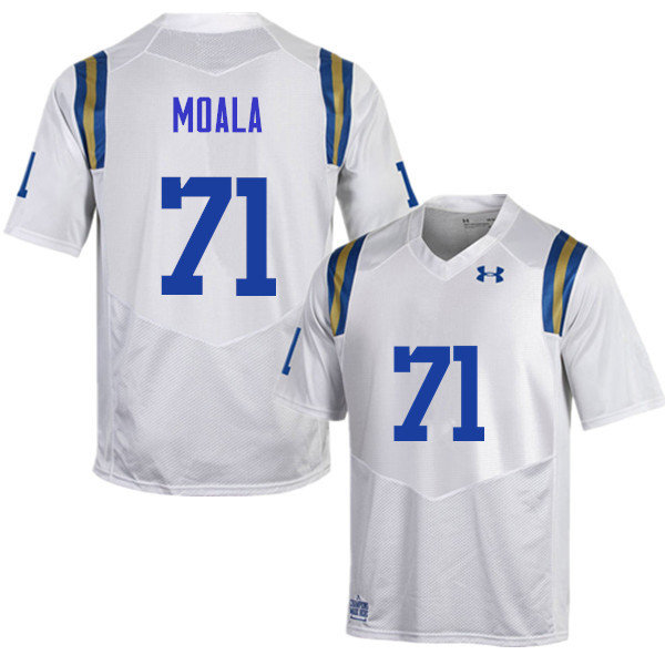 Men #71 Poasi Moala UCLA Bruins Under Armour College Football Jerseys Sale-White