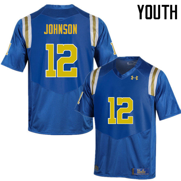 Youth #12 Rahyme Johnson UCLA Bruins Under Armour College Football Jerseys Sale-Blue