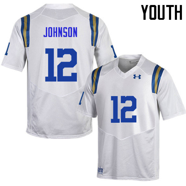 Youth #12 Rahyme Johnson UCLA Bruins Under Armour College Football Jerseys Sale-White