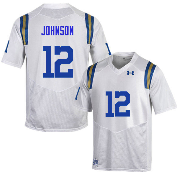 Men #12 Rahyme Johnson UCLA Bruins Under Armour College Football Jerseys Sale-White