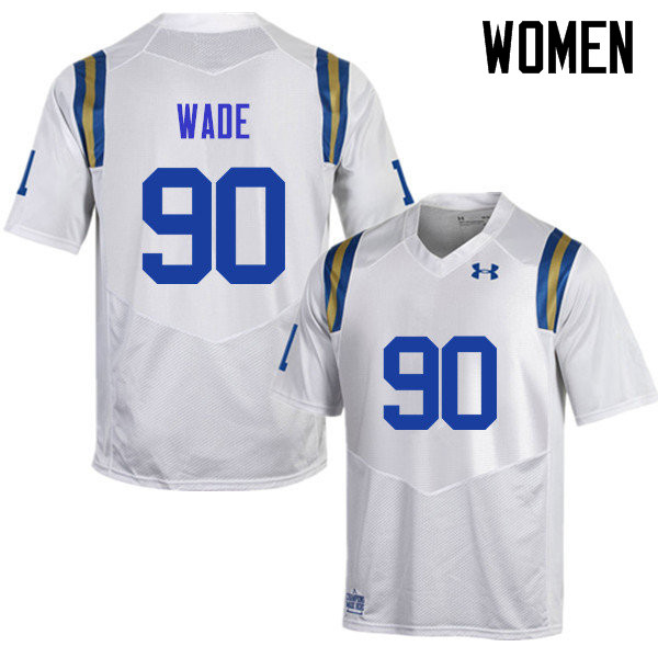 Women #90 Rick Wade UCLA Bruins Under Armour College Football Jerseys Sale-White