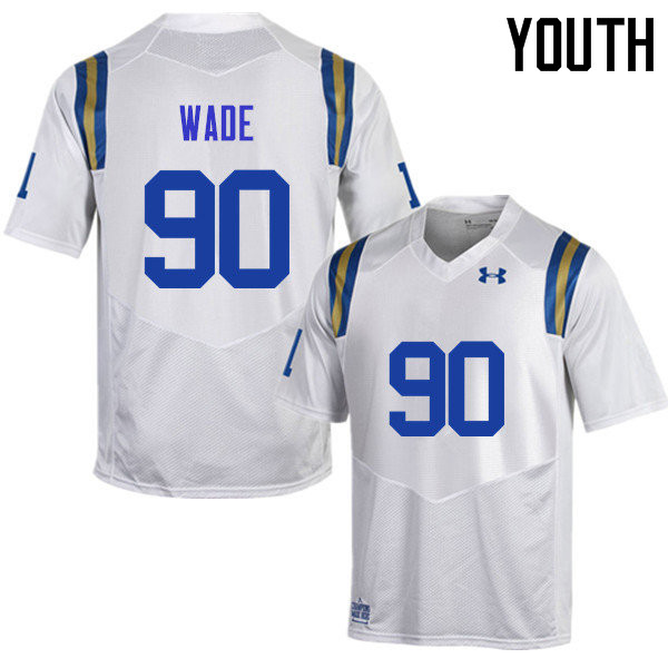 Youth #90 Rick Wade UCLA Bruins Under Armour College Football Jerseys Sale-White