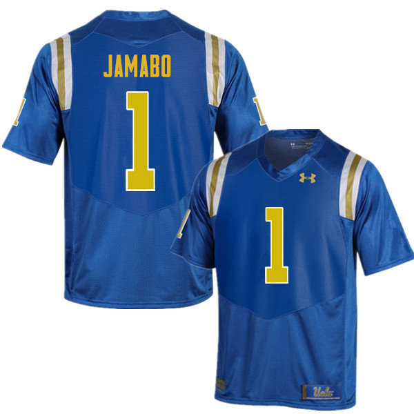 Men #1 Soso Jamabo UCLA Bruins Under Armour College Football Jerseys Sale-Blue