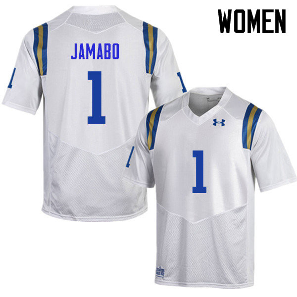Women #1 Soso Jamabo UCLA Bruins Under Armour College Football Jerseys Sale-White