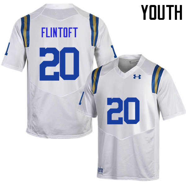 Youth #20 Stefan Flintoft UCLA Bruins Under Armour College Football Jerseys Sale-White