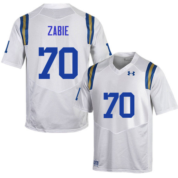 Men #70 Stephan Zabie UCLA Bruins Under Armour College Football Jerseys Sale-White