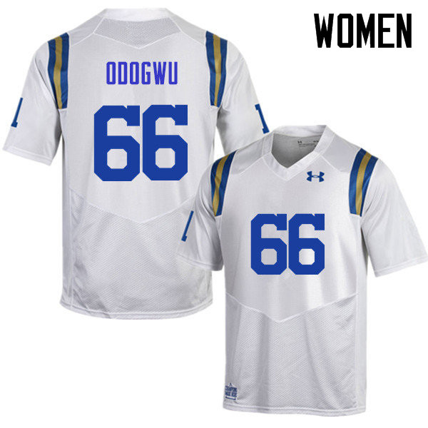 Women #66 Sunny Odogwu UCLA Bruins Under Armour College Football Jerseys Sale-White