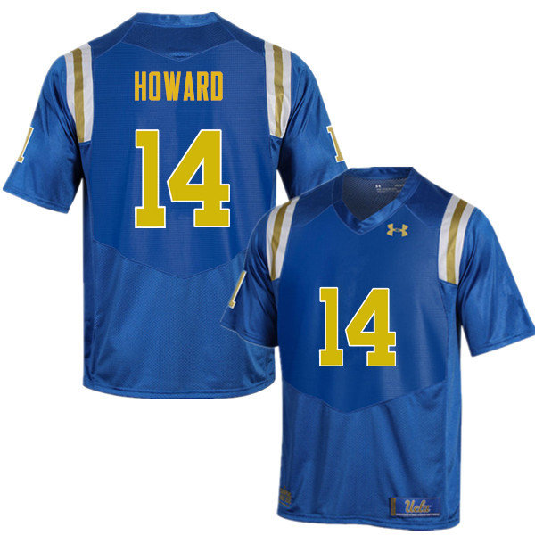 Men #14 Theo Howard UCLA Bruins Under Armour College Football Jerseys Sale-Blue