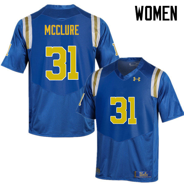 Women #31 Will McClure UCLA Bruins Under Armour College Football Jerseys Sale-Blue