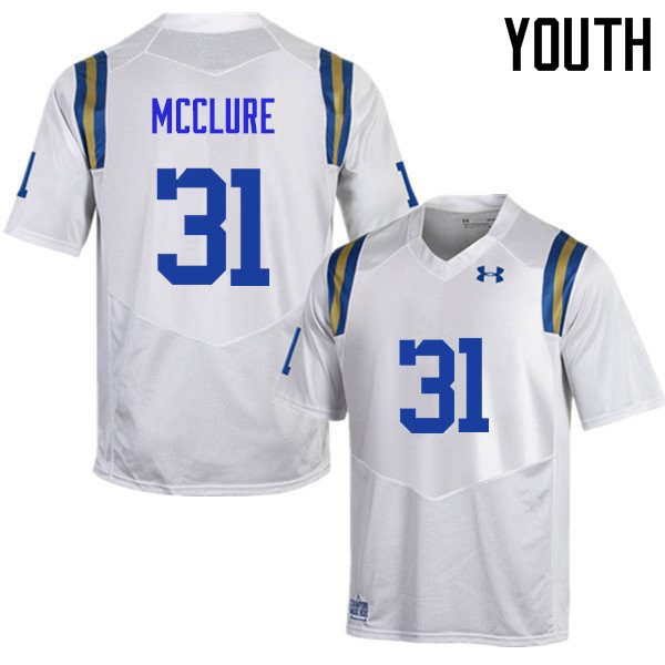 Youth #31 Will McClure UCLA Bruins Under Armour College Football Jerseys Sale-White