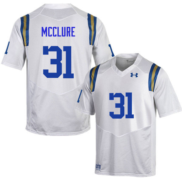 Men #31 Will McClure UCLA Bruins Under Armour College Football Jerseys Sale-White