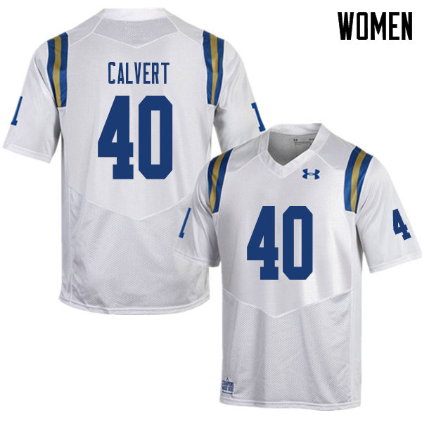 Women #40 Bo Calvert UCLA Bruins College Football Jerseys Sale-White