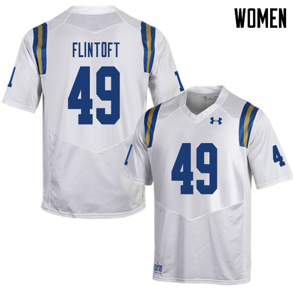 Women #49 Collin Flintoft UCLA Bruins College Football Jerseys Sale-White