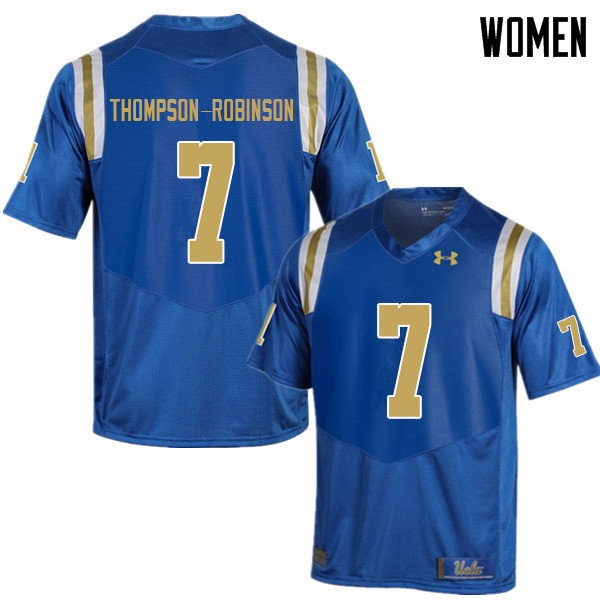 Women #7 Dorian Thompson-Robinson UCLA Bruins College Football Jerseys Sale-Blue