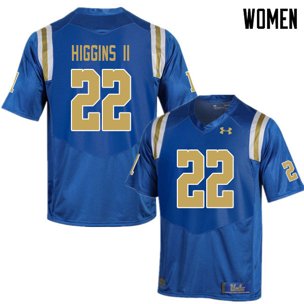 Women #22 Kenroy Higgins II UCLA Bruins College Football Jerseys Sale-Blue
