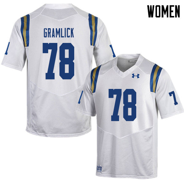Women #78 Lucas Gramlick UCLA Bruins College Football Jerseys Sale-White