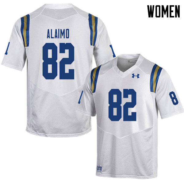Women #82 Matt Alaimo UCLA Bruins College Football Jerseys Sale-White