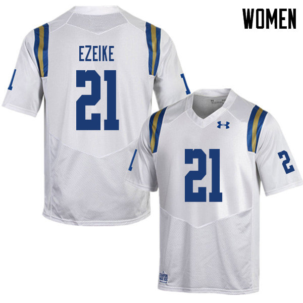Women #21 Michael Ezeike UCLA Bruins College Football Jerseys Sale-White