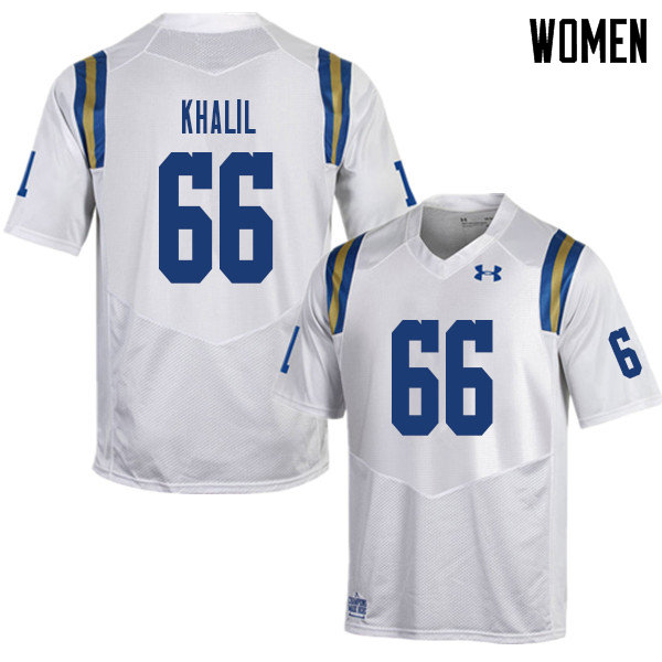 Women #66 Mohamed Khalil UCLA Bruins College Football Jerseys Sale-White