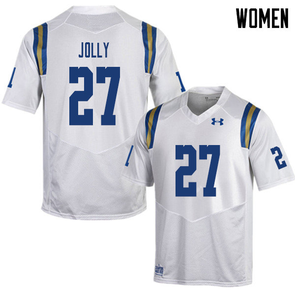 Women #27 Patrick Jolly UCLA Bruins College Football Jerseys Sale-White