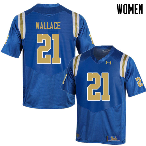 Women #21 Quentin Wallace UCLA Bruins College Football Jerseys Sale-Blue