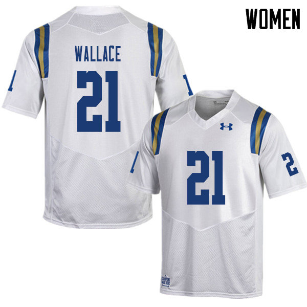 Women #21 Quentin Wallace UCLA Bruins College Football Jerseys Sale-White