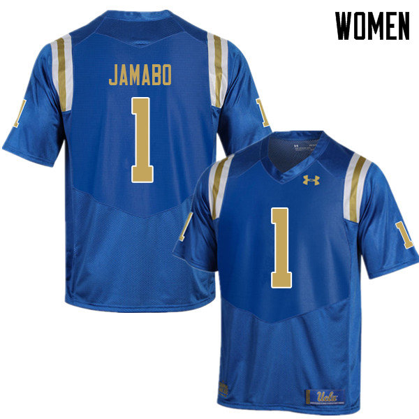 Women #1 Soso Jamabo UCLA Bruins College Football Jerseys Sale-Blue