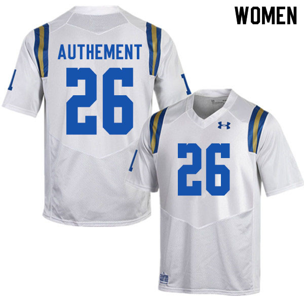 Women #26 Ashton Authement UCLA Bruins College Football Jerseys Sale-White