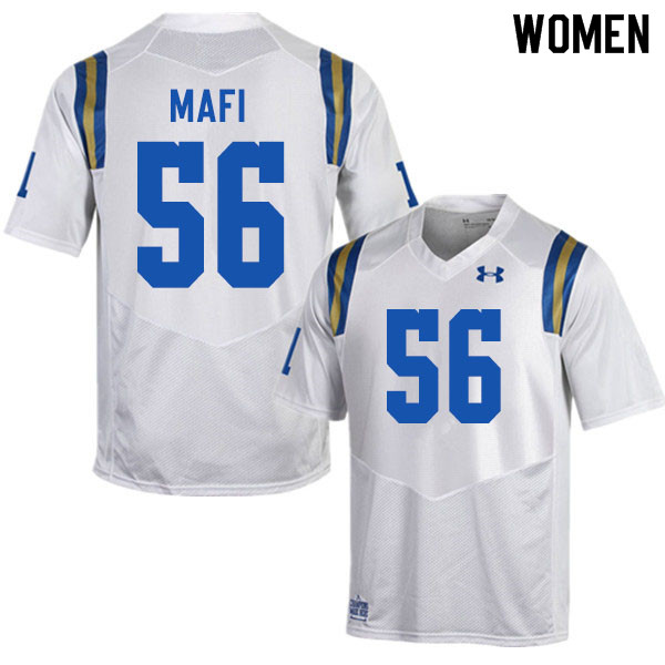 Women #56 Atonio Mafi UCLA Bruins College Football Jerseys Sale-White