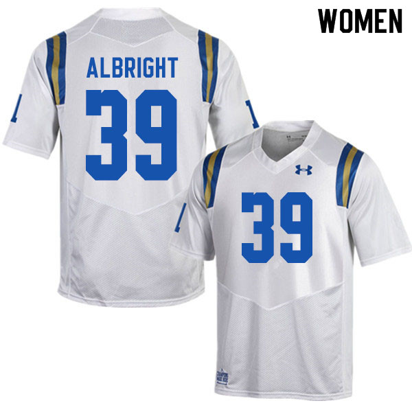 Women #39 Barret Albright UCLA Bruins College Football Jerseys Sale-White