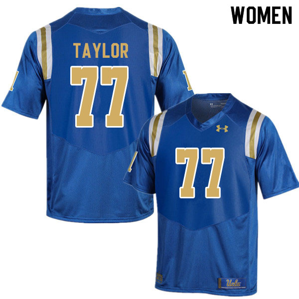 Women #77 Beau Taylor UCLA Bruins College Football Jerseys Sale-Blue