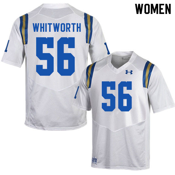 Women #56 Brad Whitworth UCLA Bruins College Football Jerseys Sale-White