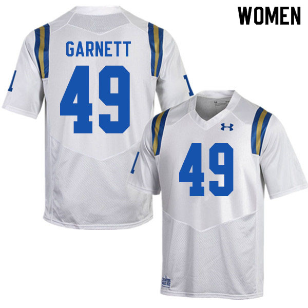 Women #49 Jonny Garnett UCLA Bruins College Football Jerseys Sale-White