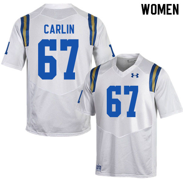 Women #67 Josh Carlin UCLA Bruins College Football Jerseys Sale-White