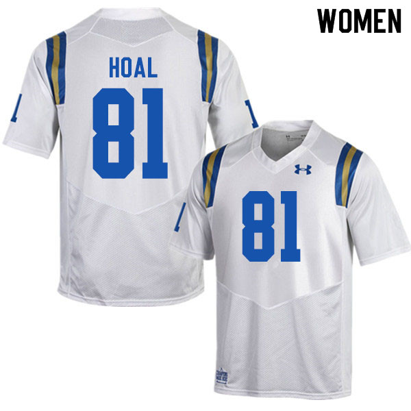 Women #81 Kayden Hoal UCLA Bruins College Football Jerseys Sale-White