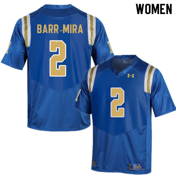 Women #2 Nicholas Barr-Mira UCLA Bruins College Football Jerseys Sale-Blue