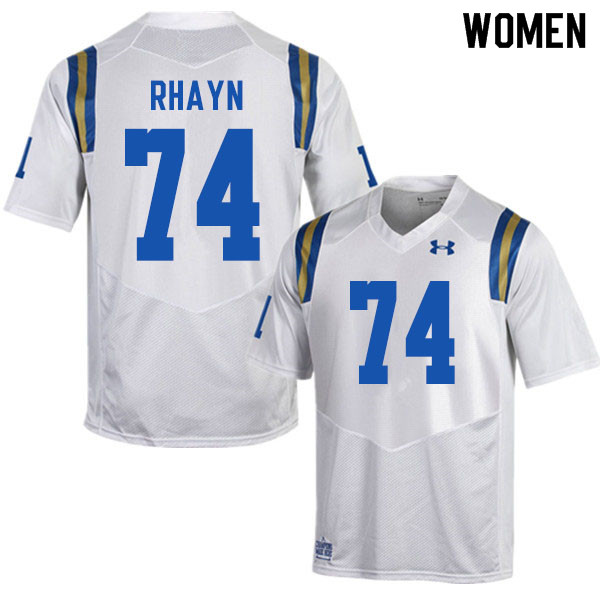 Women #74 Sean Rhayn UCLA Bruins College Football Jerseys Sale-White