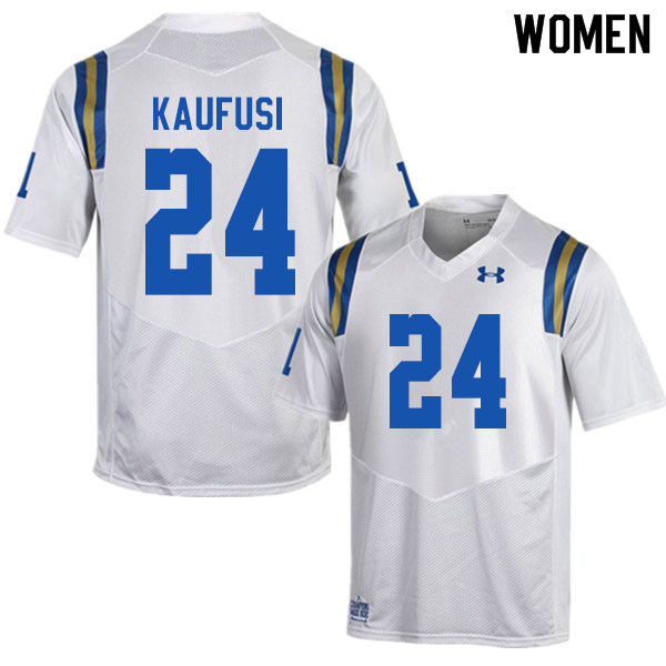 Women #24 Sitiveni Kaufusi UCLA Bruins College Football Jerseys Sale-White