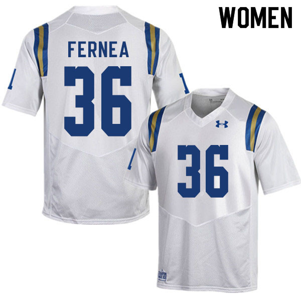 Women #36 Ethan Fernea UCLA Bruins College Football Jerseys Sale-White