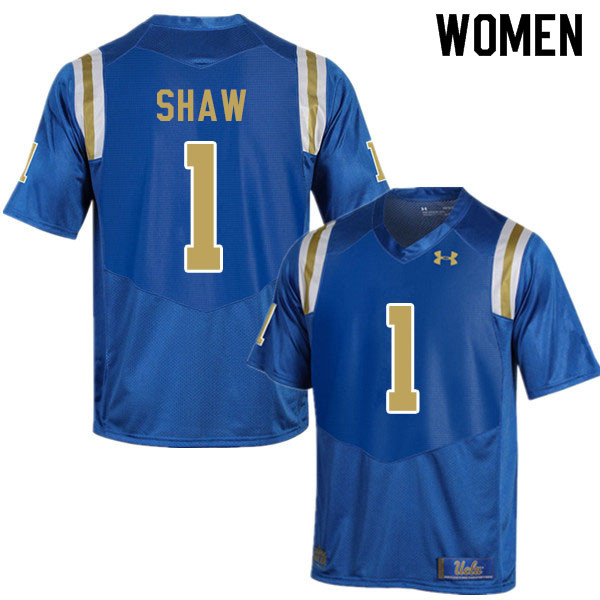 Women #1 Jay Shaw UCLA Bruins College Football Jerseys Sale-Blue