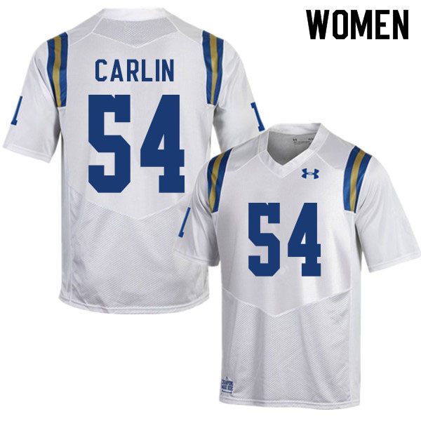 Women #54 Josh Carlin UCLA Bruins College Football Jerseys Sale-White