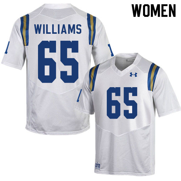 Women #65 Justin Williams UCLA Bruins College Football Jerseys Sale-White