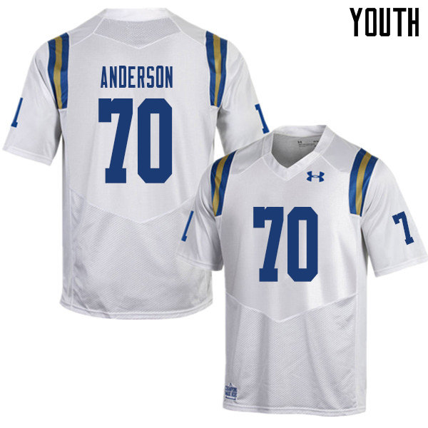 Youth #70 Alec Anderson UCLA Bruins College Football Jerseys Sale-White