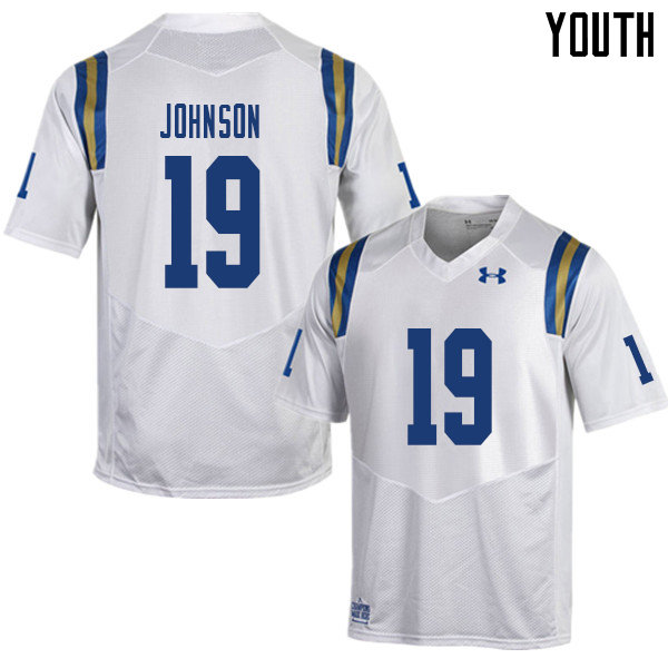 Youth #19 Alex Johnson UCLA Bruins College Football Jerseys Sale-White