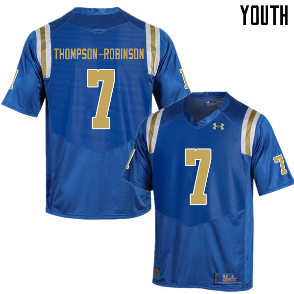 Youth #7 Dorian Thompson-Robinson UCLA Bruins College Football Jerseys Sale-Blue