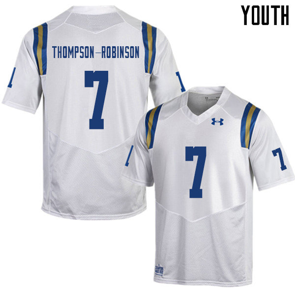 Youth #7 Dorian Thompson-Robinson UCLA Bruins College Football Jerseys Sale-White