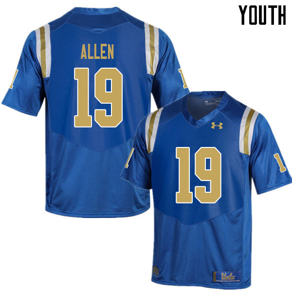 Youth #19 Kazmeir Allen UCLA Bruins College Football Jerseys Sale-Blue