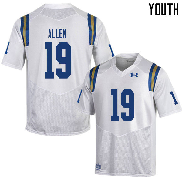 Youth #19 Kazmeir Allen UCLA Bruins College Football Jerseys Sale-White