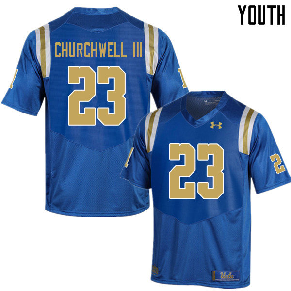 Youth #23 Kenny Churchwell III UCLA Bruins College Football Jerseys Sale-Blue